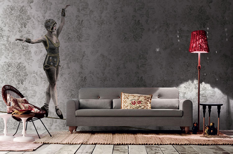 ad alcune pareti scegliendo una sfumatura decisa di grigio ...
